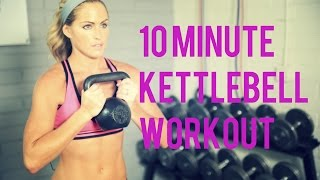 10 Minute Kettlebell Workout for an efficient Total Body Workout by BodyFit By Amy