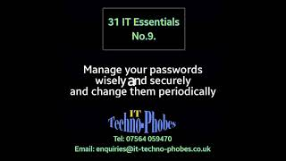 IT Techno-Phobes Limited Tip 9 – IT Support Services In Dudley
