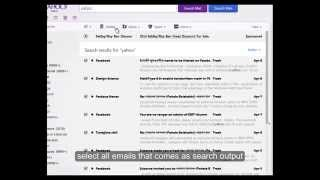 How to delete thousands of yahoo! emails at once
