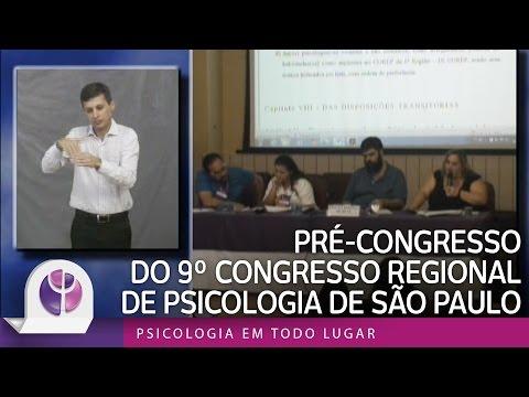 Pré-Congresso do 9º Congresso Regional de Psicologia de São Paulo - São Paulo