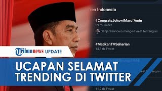 #CongratsJokowiMarufAmin Trending Topic di Twitter Jelang Pelantikan Presiden dan Wakil Presiden RI