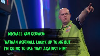 "Michael van Gerwen: ""Nathan Aspinall looks up to me but I'm going to use that against him"""