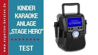 """► Unboxing- und Test-Video der portablen Kinder-Karaoke-Anlage """"Stage Hero"""" von Auna auf Deutsch ☑"""