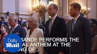 Emeli Sande sings National Anthem at opening of CHOGM - Daily Mail