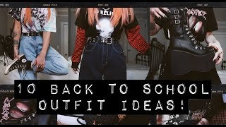 10 BACK TO SCHOOL OUTFITS!!
