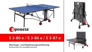 Sponeta S 3-80 / 86 / 87 e - Montageanleitung Tischtennistisch / Instructions for assembly and use