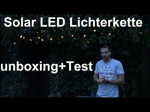 AMIR Solar Lichterkette 30er LED Kugel Solar Lichterkette unboxing und Test