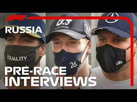 F1 ロシアGPレース直前のドライバーインタビュー動画
