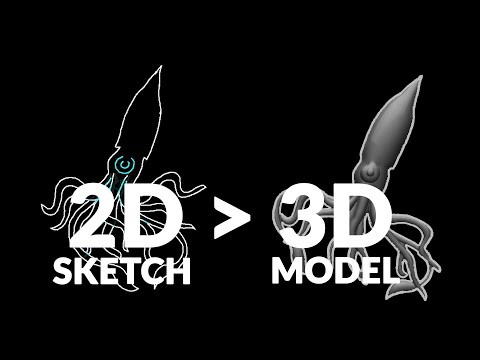 2D Sketch to 3D Mesh... How? 😲