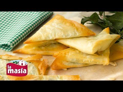 Triángulos de Pasta Filo Rellenos