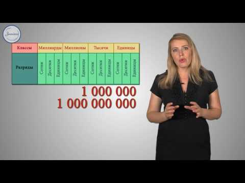 Натуральные числа. Чтение и запись