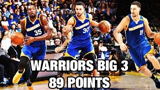 Stephen Curry, Kevin Durant, & Klay Thompson Put up 89 Points! - dooclip.me