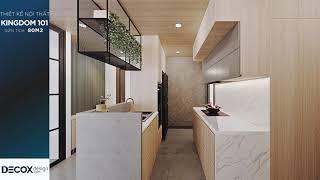 Mẫu thiết kế nội thất căn hộ Kingdom 101 80m2 - Quận 10