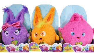 Sunny Bunnies Bunny Blabbers Iris, Turbo and Big Boo Plush Unboxing Toy Review