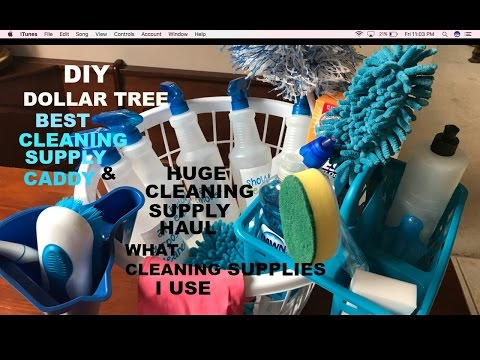 DIY DOLLAR TREE BEST CLEANING CADDY AND ALL THE CLEANING PRODUCT I USE