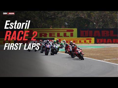 スーパーバイク 2021 第2戦ポルトガル(エストリル) 決勝のレース2のスタート直後をまとめたダイジェスト動画