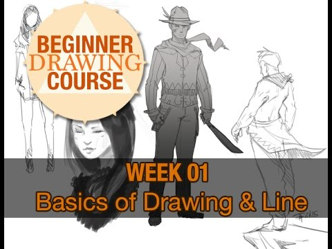 Beginner Drawing Course: Week 01 - Basics of Drawing and Line