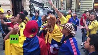 Mundial Rusia 2018: Aficionados colombianos ya le cantan a su selección en Moscú