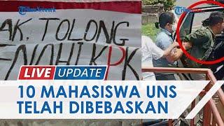 Nasib 10 Mahasiswa UNS Pembawa Poster Kritik saat Kunjungan Jokowi ke UNS, Dibebaskan seusai Mediasi