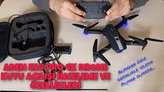 Aden e58 pro 4k drone kutu açılımı inceleme | FPV drone kullanımı | Sanal gerçeklik gözlüğü kullanım