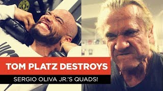 Tom Platz Destroys Sergio Oliva Jr.'s Quads