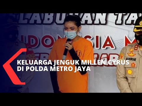 Masih Ditahan Terkait Kasus Narkoba, Keluarga Jenguk Millen Cyrus di Polda Metro Jaya