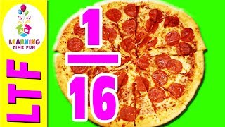 Fractions With PIZZA | Math For Kids | Fractions | Fractions For Kids | Math Games For Kids