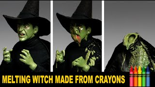 Wicked Witch Melting Effect Made With Crayons