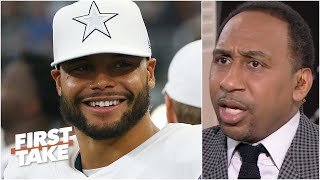 First Take reacts to the Cowboys reportedly offering Dak Prescott a contract with $105M guaranteed