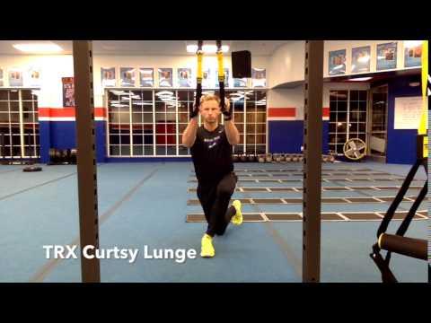 TRX Curtsy Lunge