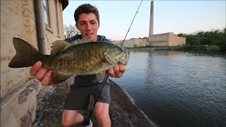 Urban Smallmouth Bass & How NOT To Organize Your Car -- VLOG