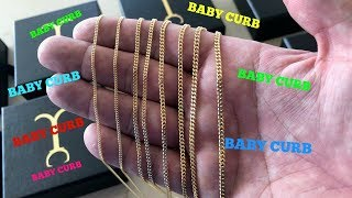 Baby Curb GOLD CHAIN Review!