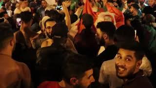 مغاربة بلجيكا يحتفلون بفوز الجزائر.. أجواء احتفالية رائعة في الشوارع