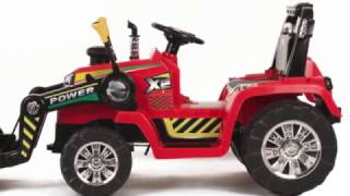 Kids 12v Ride On Tractor with Remote Control