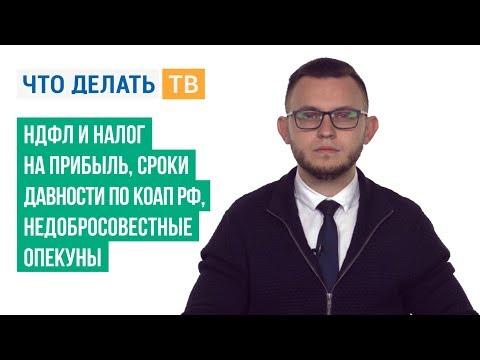 НДФЛ и налог на прибыль, сроки давности по КоАП РФ, недобросовестные опекуны