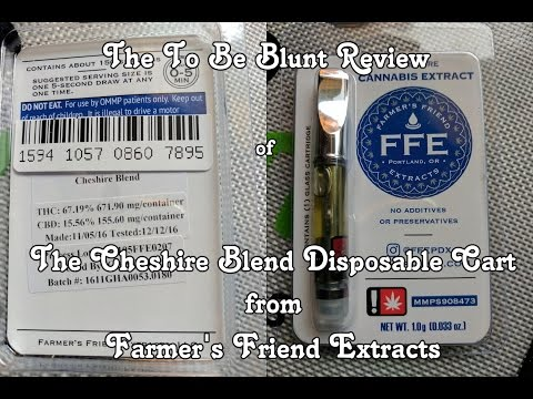 Farmer's Friend Extracts' Cheshire Blend Disposable Vape Cart Review