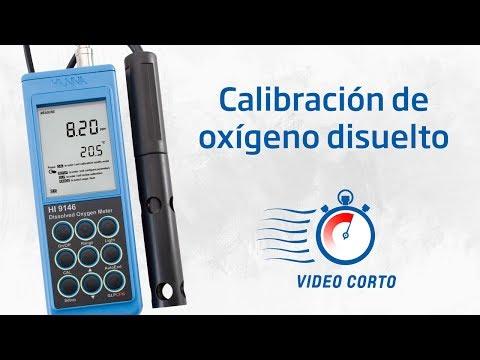Calibración de oxígeno disuelto