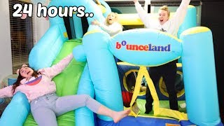 STAYING IN A BOUNCY HOUSE FOR 24 HOURS CHALLENGE! part 2