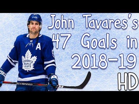 John Tavares's 47 Goals in 2018-19 (HD)
