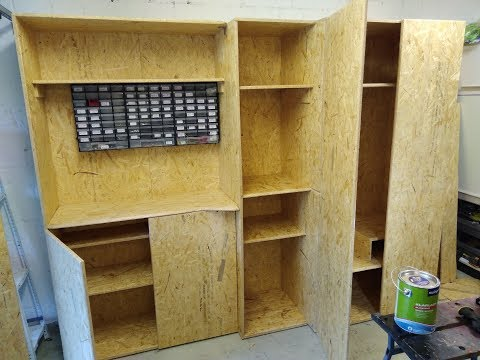 Schrank für Garage selber bauen aus OSB