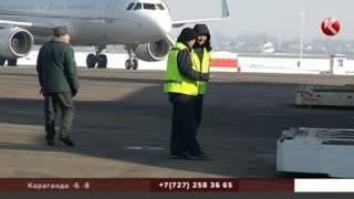 Очевидец снял, как «Боинг» с отключенным двигателем совершал посадку в Алматы