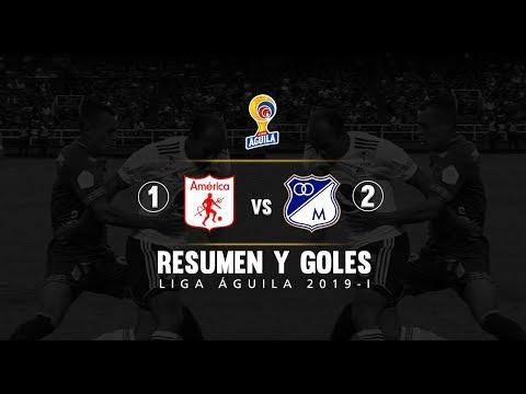 America vs Millonarios: resumen y goles del partido 1-2 Liga Águila 2019 I