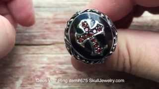 Deus Vult Christian Crusader ring