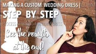 MAKING A WEDDING GOWN | PERFECT CHIFFON WEDDING DRESS | Emmane B. Design | Custom Wedding Dress