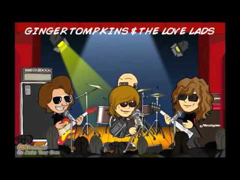 Ginger Tompkins and The Love Lads Cartoon