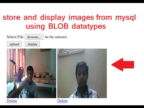 store and view and delete images from mysql database using blob datatype
