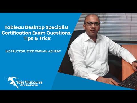 Tableau Desktop Specialist Certification Exam Questions, Tips ...