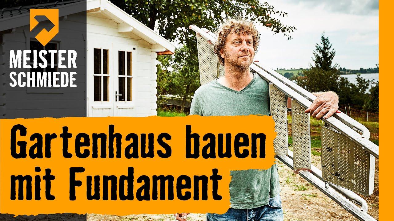 Gartenhaus bauen mit Fundament title=