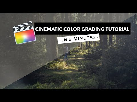 CINEMATIC COLOR GRADING in 5 minutes - Final Cut Pro X Tutorial
