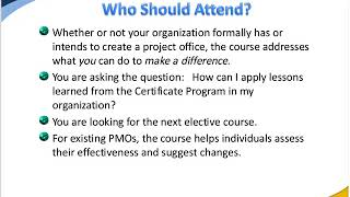 Creating the Program Management Office: Lead Change To a Project Based Organization (3/4/2012)